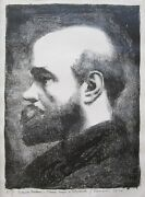 Georges Rouault Signed 1926 Original Lithograph - Portrait Of Paul Verlaine