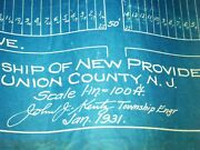 1931 Large Group Blue Print Maps Layout Tax New Providence N.j. Kentz Bell Labs