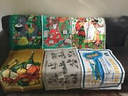 Vintage Kitchen Towels From Ireland Lot Of 6 Never Used