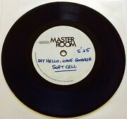 Soft Cell Say Hello, Wave Goodbye Rare 7 Acetate 1-sided Dj Promo Marc Almond