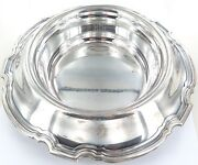 .c1921 And Co Sterling Silver Huge Floral Centre Piece Bowl 1030 G