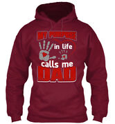 Calls Me Dad Fathersday2018 - My Purpose In Life Dad Standard College Hoodie