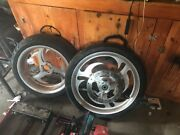 Revtec Harley Wheels 21 Inch Front 18 Inch Rear Matching Rotors And Has 3/4 Axle