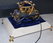 House Of Igor Carl Faberge Imperial Wedding Coach 1985 Solid Plated Silver/box