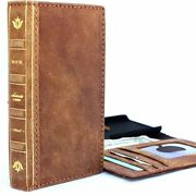 Genuine Leather Case For Apple Iphone X Book Soft Wallet Handmade Bible Cover