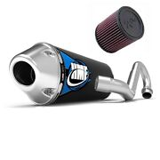 Hmf Competition Comp Mx System Exhaust Elliptical + Kandn Air Filter Trx450r 04 05