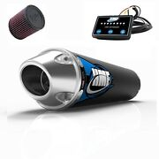 Hmf Competition Comp Slip On Exhaust + Efi Optimizer + Kandn Filter Yfz 450r 09-17