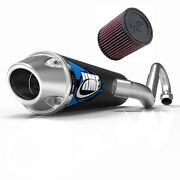 Hmf Competition Comp Mx System Exhaust Pipe + Kandn Air Filter Trx 450r 2006-2014