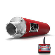 Hmf Performance Slip On Exhaust Candy Red Power Commander 5 F + I Raptor 700