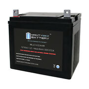 Mighty Max Ml-u1-ccahr 12v 320cca Battery For Grass Hopper 618 S Tractor Mower