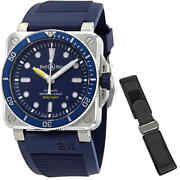 Bell And Ross Diver Automatic Blue Dial Menand039s Watch Br0392-d-bu-st/srb