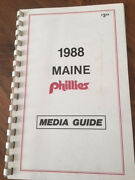 1988 Maine Phillies Media Guide International League Rare Item, Only Year