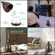 Oil Diffuser 150ml Wood Grain Ultrasonic Aromatherapy 7 Color Changing Led Light