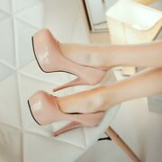 Womens Mary Jane Stiletto Heels Round Toes Pump Causal Party Dress Low Top Shoes