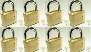 Master Lock Solid Brass 175 Lot 8 Set To Your Own Combination Padlock