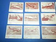 12 Zoom Trading Cards 3-69 Aircraft Army Fighter Planes 1940's/1950's Lot