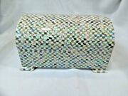 Egyptian Inlaid Paua Shell Mother Of Pearl Inside Jewelry Cigarette Box 8.3 994