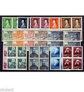 Spain - Year 1952 Complete In Blocks Of Four - Stamps New Luxury