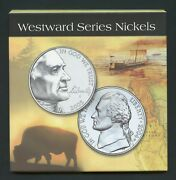 United States Westward Series Nickels Gold Colored In Holder