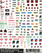Woodland Scenics Dt574 Service Station Signs Train Decal Sheet