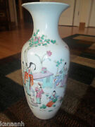Superb Chinese Famille Rose Jingdezhen With 10 Figural Characters Vase-rare