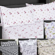 Top Split King Size Sheets Sets [ Top Split Fitted + Flat Sheet + 2 Pillowcases]