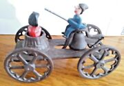 Punch And Judy Cast Iron Gong Toy N. N. Hill Brass Company Replica