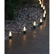 E.l.f. 9359407 5 In. Christmas Light Stakes Pvc Green - Pack Of 100