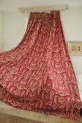 Curtain Antique French Red Toile C 1870 Massive Drape 1 Of Set Bed Hanging