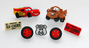 Cars W Lightning Mcqueen And Mater Disney License Jesse James Buttons
