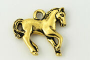 18mm Antique Gold Tierracast Pewter Yearling Horse Charm 20 Pcs Ck255