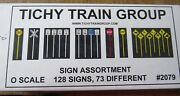 Tichy O Scale 2079 Sign Assortment 128 Signs Bob The Train Guy