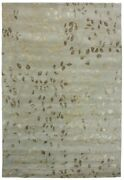 Due Process Stable Trading Tufted Leaves Seafoam Area Rug 8 X 10 Ft.