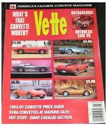 Chevrolet Vette Magazine May 1997--1962 Convertible1965 Coupe1970 Cp1986 Cp