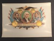 Los Inmortales 6x8 Inner Ybor Cigar Label Lincoln Washington Grant Free Ship