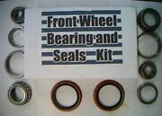 Four Front Wheel Bearings, 2 Seals Plymouth 1955-1989-replace These Worn Parts