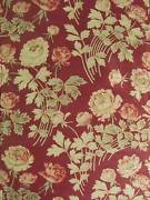 Quilt Antique French 4 Poster Bed Fabric Arts And Crafts Burgundy Boutis Textile