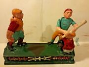Home Town Battery Cast Iron Mechanical Bank 9 Book Of Knowledge Cast Iron