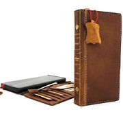 Genuine Leather Case For Samsung Galaxy Note 9 Handmade Cover Rubber Book Bible