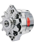 Powermaster Chrome Alternator 85amp Gm 10si 1 Or 3 Wire V-pulley 17127