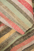 Rag Rug French Antique Carpet Wide Runner 37.25 By 150 Inches Late 19th Century