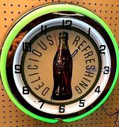 18 Delicious And Refreshing Coke Bottle Sign Double Neon Clock Coca-cola