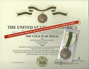 Full Size Cold War Victory Medal/ribbon And Certificate Us Army Usn Usaf Usmc Uscg