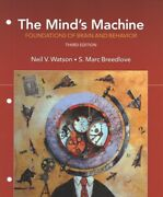 Mindand039s Machine Foundations Of Brain And Behavior Paperback By Watson Neil...