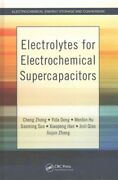 Electrolytes For Electrochemical Supercapacitors, Hardcover By Zhong, Cheng ...