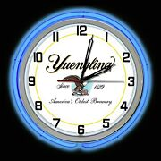18 Yuengling Beer Sign Since 1829 Double Neon Wall Clock