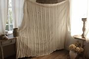 Vintage French Hand-made Coverlet Crochet 86x86 Hand-made Lace Antique White