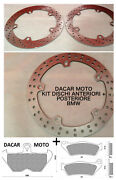 Set Discs Front And Back + Pads Bmw R 850 Gs Abs 1998 1999 2000