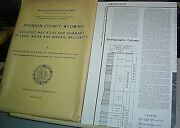 Johnson County Wyoming Geologic Map Atlas Land Water Mineral Crs-4 9 Maps 1976