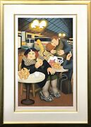 Beryl Cook Gare Du Nord 1990   Hand Signed Serigraph   Framed   Others Avail